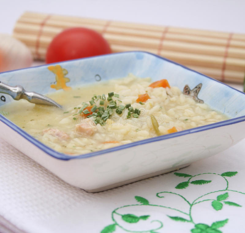 Free Chicken Soup With Rice Stock Image - 37539171