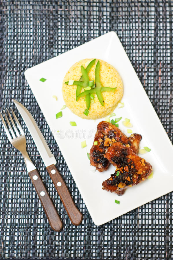 Download Chicken spicy wings stock photo. Image of marinated, olive - 18917640