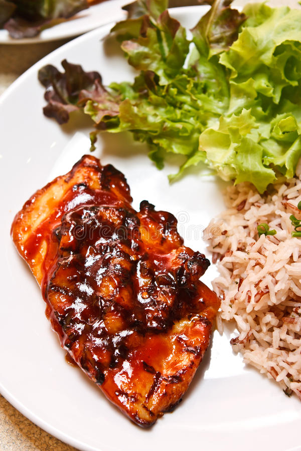 Chicken steak stock photography