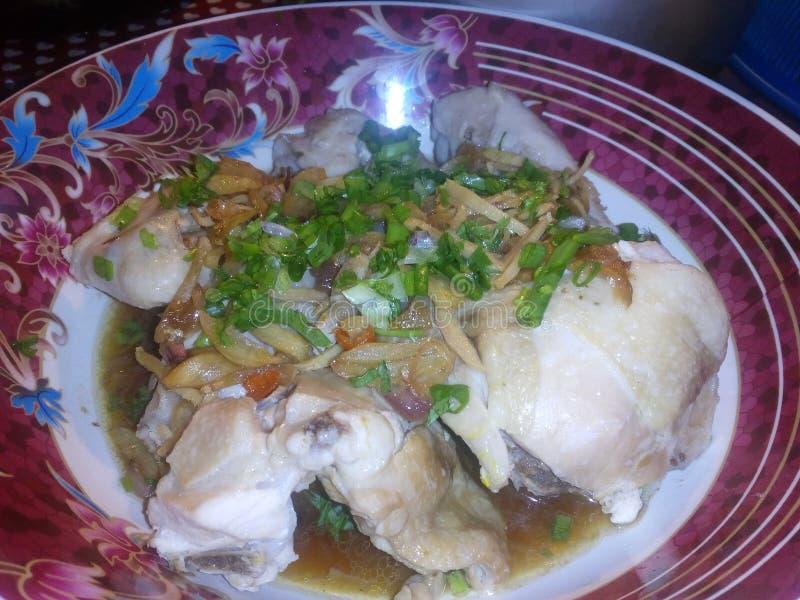 chicken steam stock photo