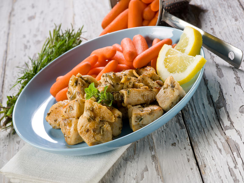 Download Chicken  stew with carrots stock image. Image of leaf - 24328481