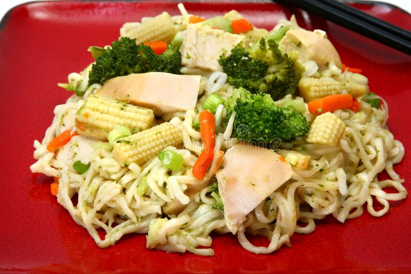 Chicken Stirfry stock image