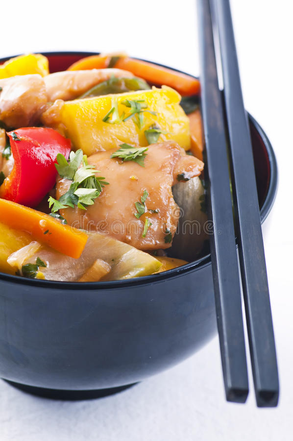 Free Chicken Sweet Sour Royalty Free Stock Images - 21032699