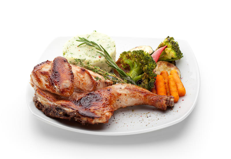 Download Chicken Tabaka stock image. Image of crispy, breast, dish - 24803009