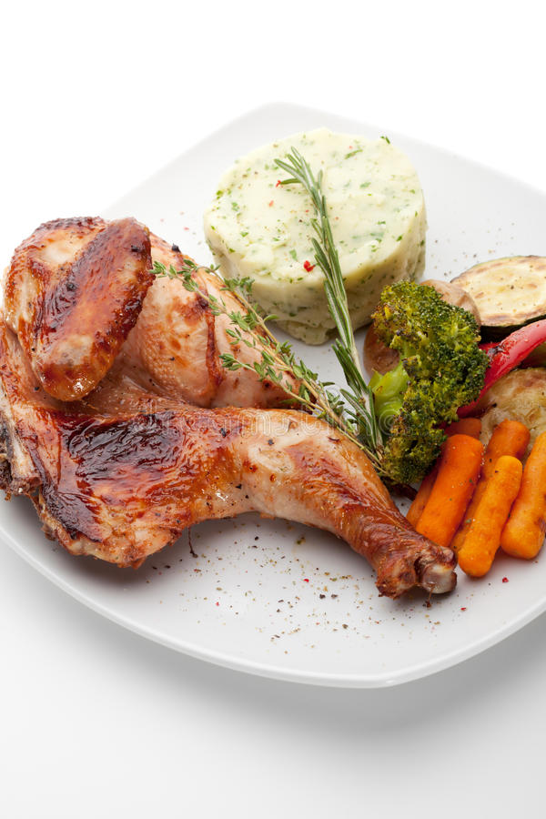 Download Chicken Tabaka stock image. Image of meal, macro, cuisine - 24803041