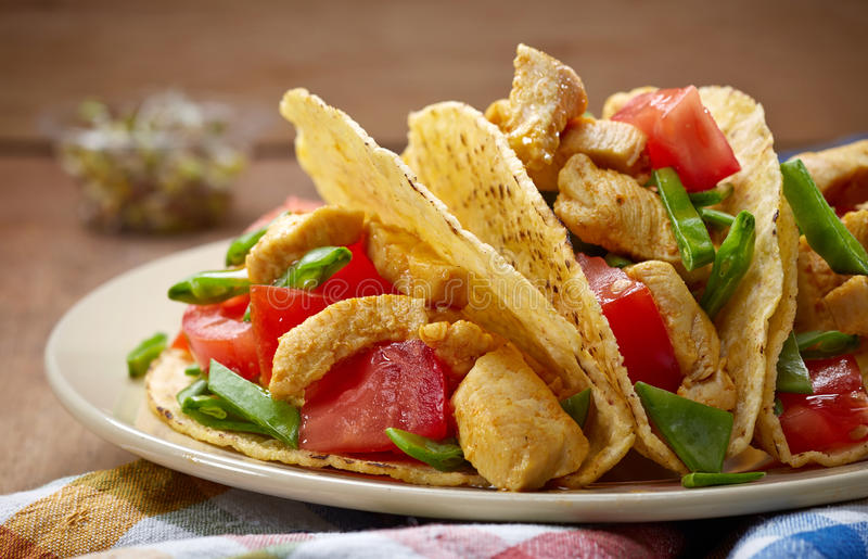 Chicken taco stock images