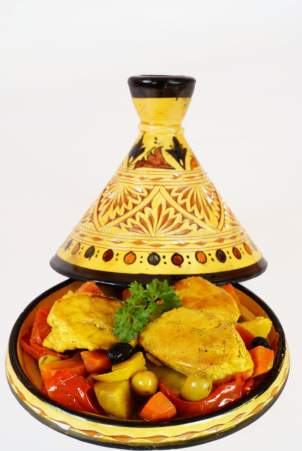 Chicken tagine royalty free stock photography