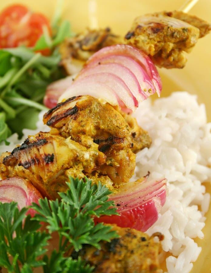 Chicken Tandoori Kebobs stock photos