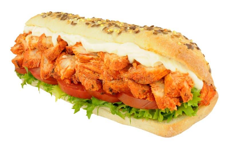 Chicken Tandoori Sandwich Sub Roll royalty free stock photography