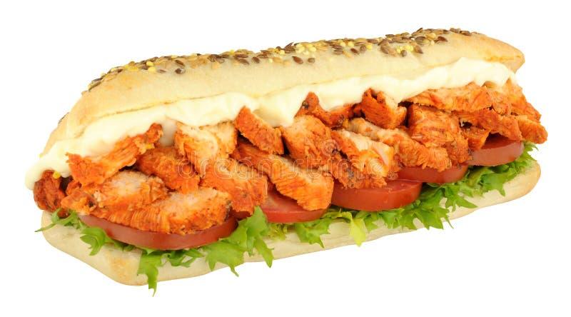 Chicken Tandoori Sandwich Sub Roll royalty free stock images