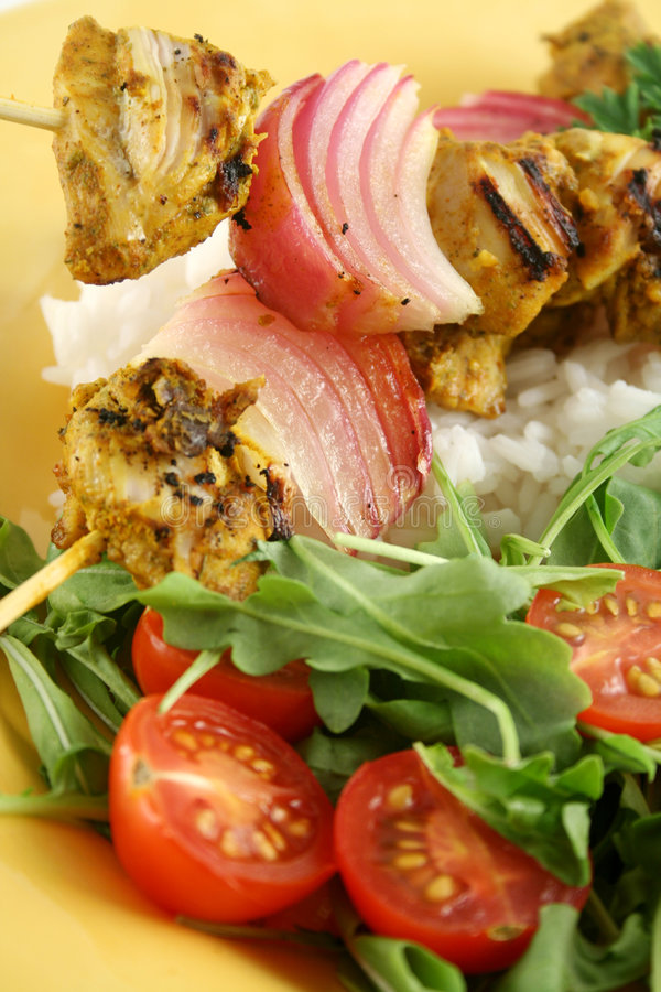 Chicken Tandoori Skewers stock images