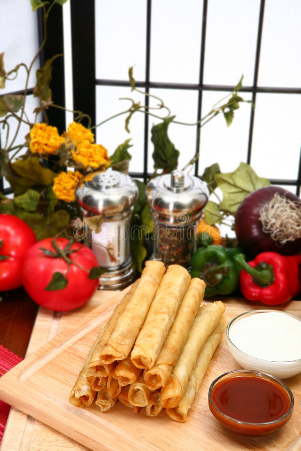 Download Chicken Taquitos stock image. Image of masa, plate, meat - 5020473