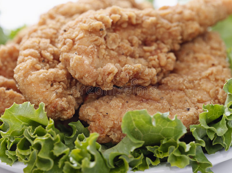 Chicken Tenders macro. A up close photo of Chicken Tenders royalty free stock photography