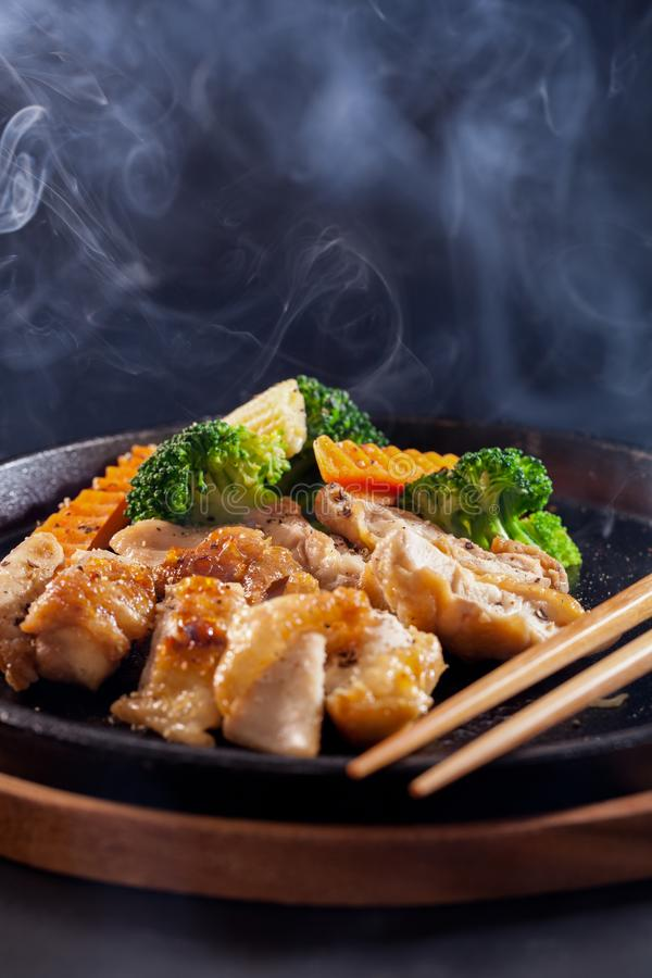 Chicken teriyaki stock image image of sauce meal chicken 102936591 chicken teriyaki with vegetablesjapanese food forumfinder Images