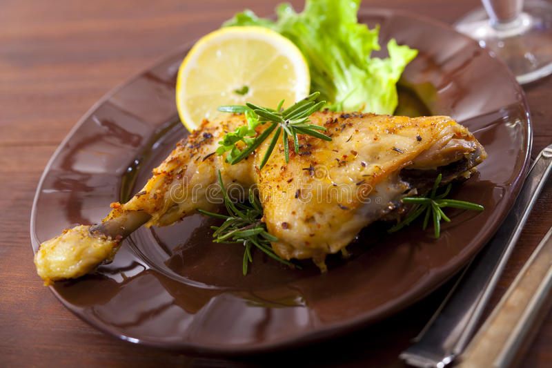 Chicken thigh stock images