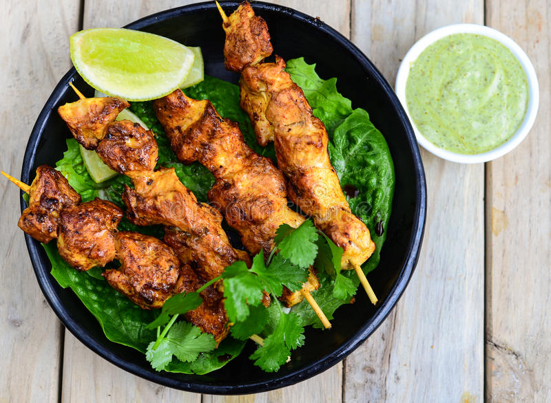 Chicken Tikka stock image