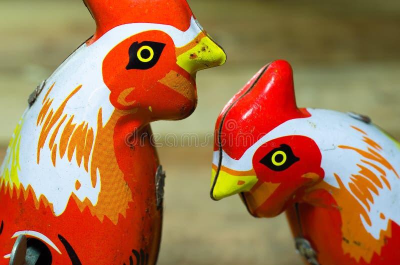 Chicken Tin toys stock photography