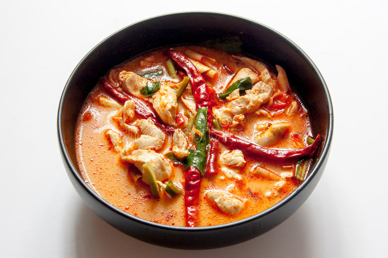 Chicken tomyum the favourite spicy food in thailand stock photos