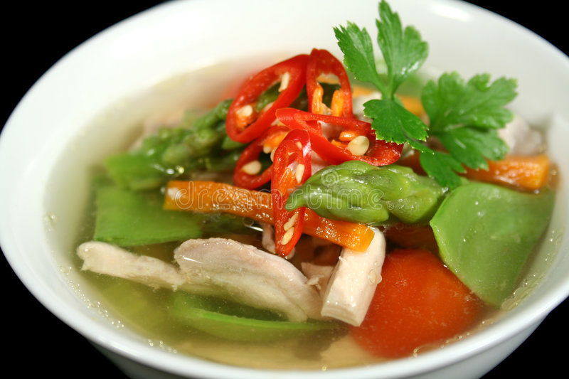 Chicken And Vegetable Soup 2 stock photos