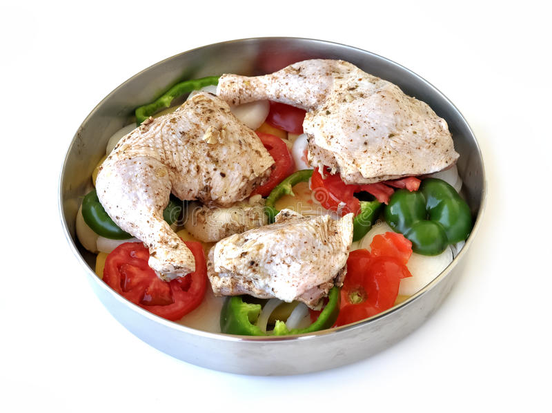 Download Chicken with vegetables stock image. Image of recipe - 27860315