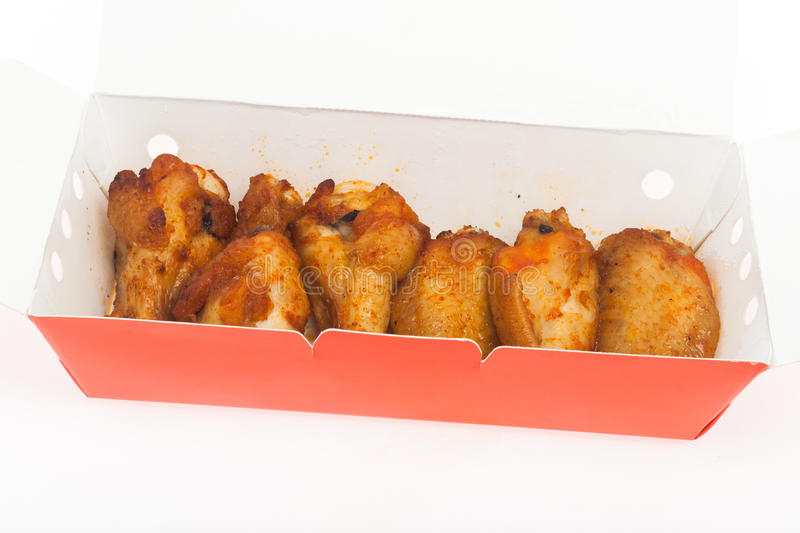 chicken wing grill isolate stock photos