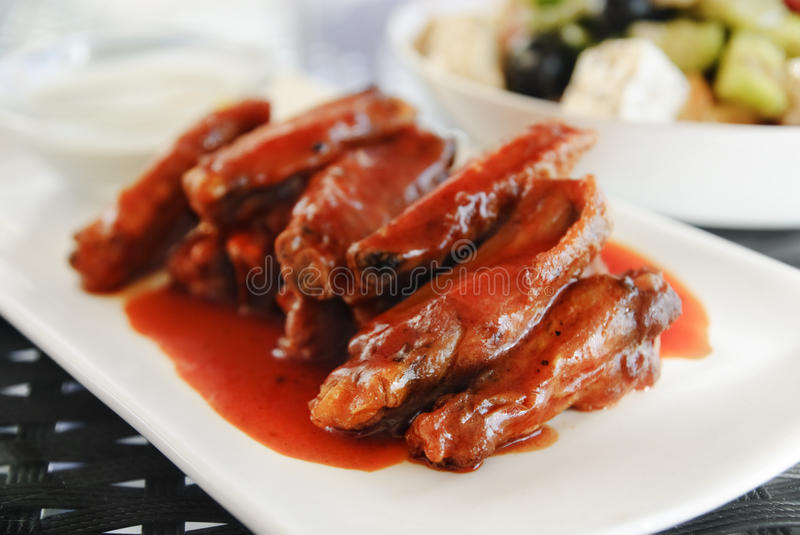 Download Chicken Wings stock photo. Image of fast, kitchen, dressing - 26446964