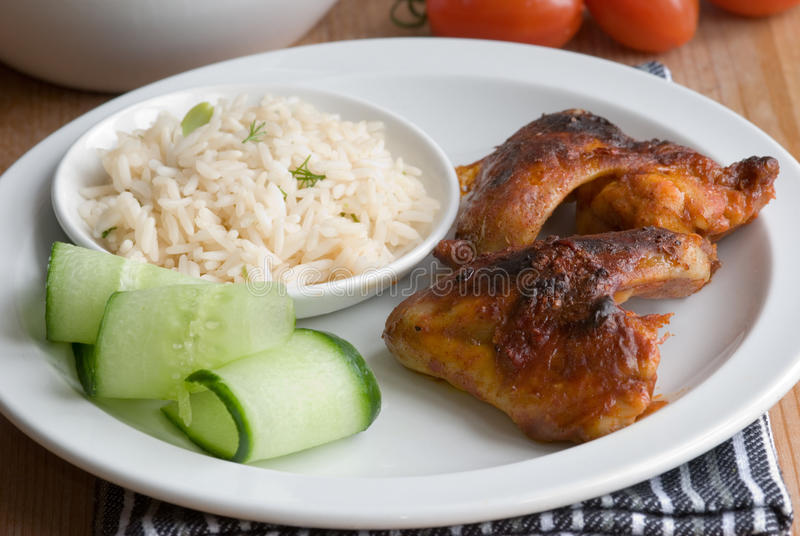 Download Chicken Wings With Rice Stock Image - Image: 14214101