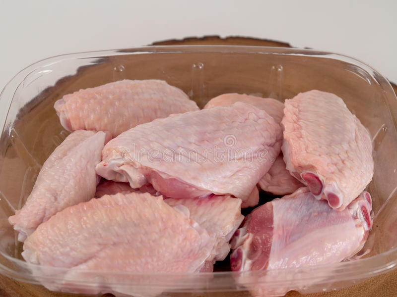 The chicken wings stock photography