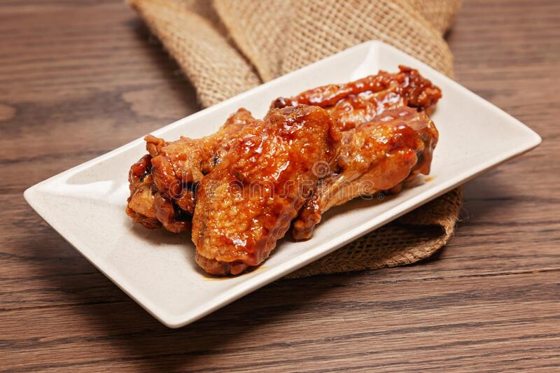 Chicken wings up close royalty free stock photography