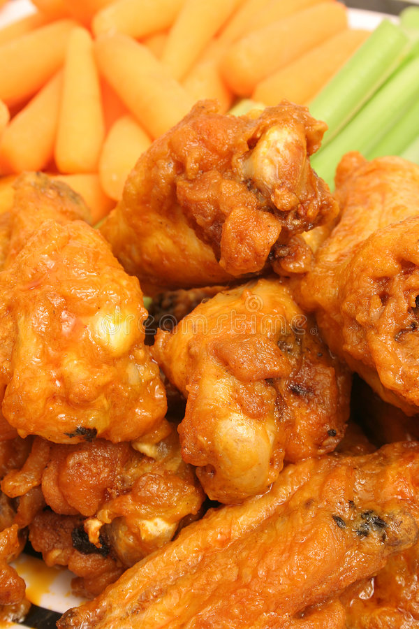 Chicken wings upclose vertical