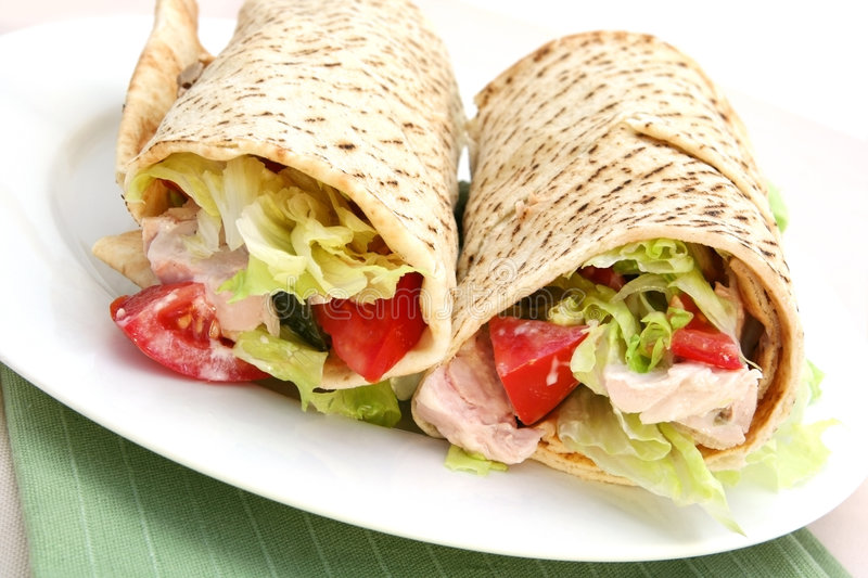 Download Chicken Wrap stock photo. Image of meat, paper, food, pepper - 2523654