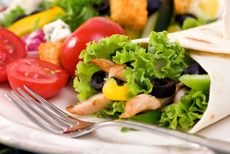 Download Chicken Wrap stock photo. Image of peppers, croutons, bell - 3024974