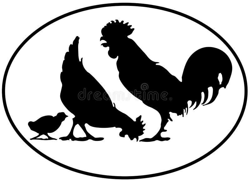 Chickenfamily ilustração royalty free