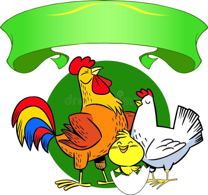 chickens royalty free illustration