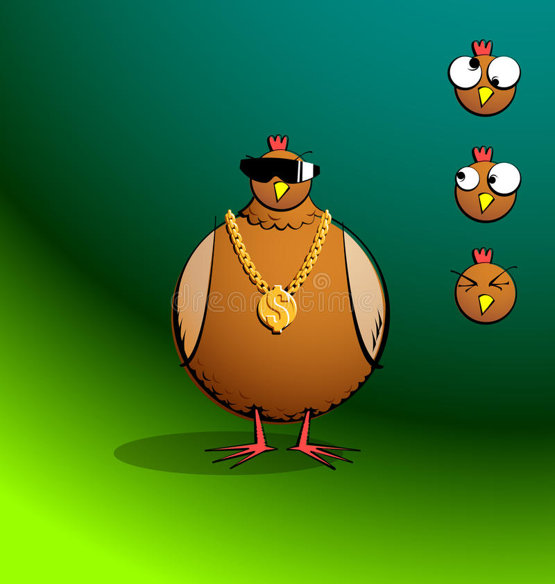 Free Chickens R Round - Bling Chicky Royalty Free Stock Photo - 39680945