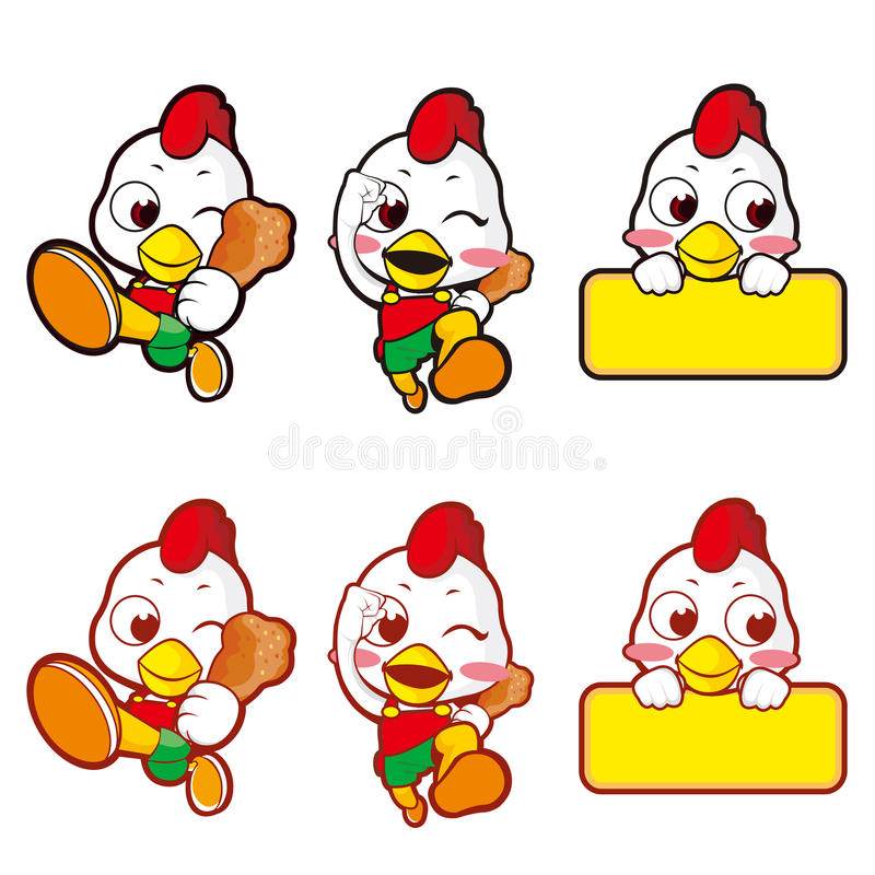 Download Chickens Running Shop To Promote. Character Stock Illustration - Image: 26846793