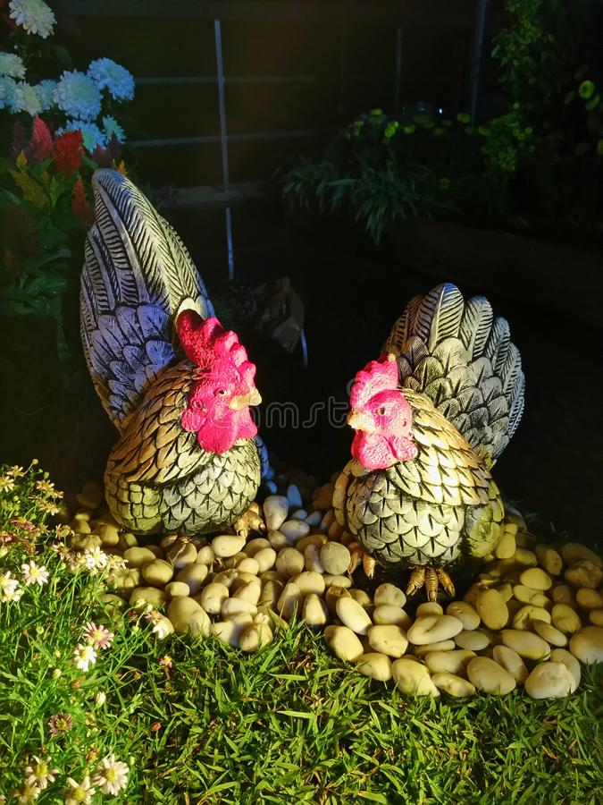 Chickens statue. royalty free stock photography