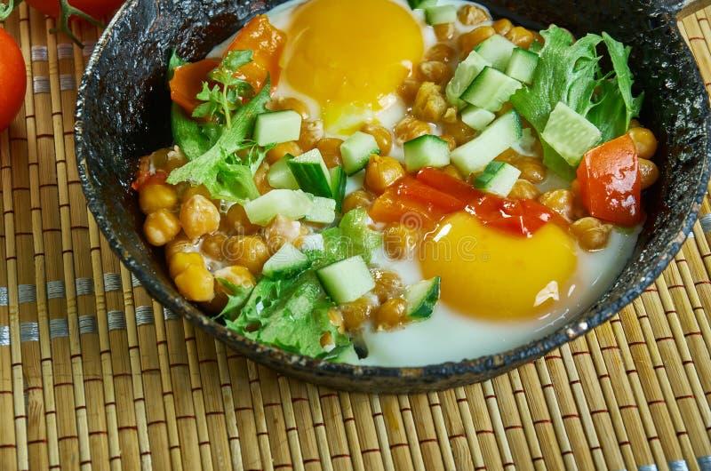Chickpea śniadania Hash zdjęcia stock