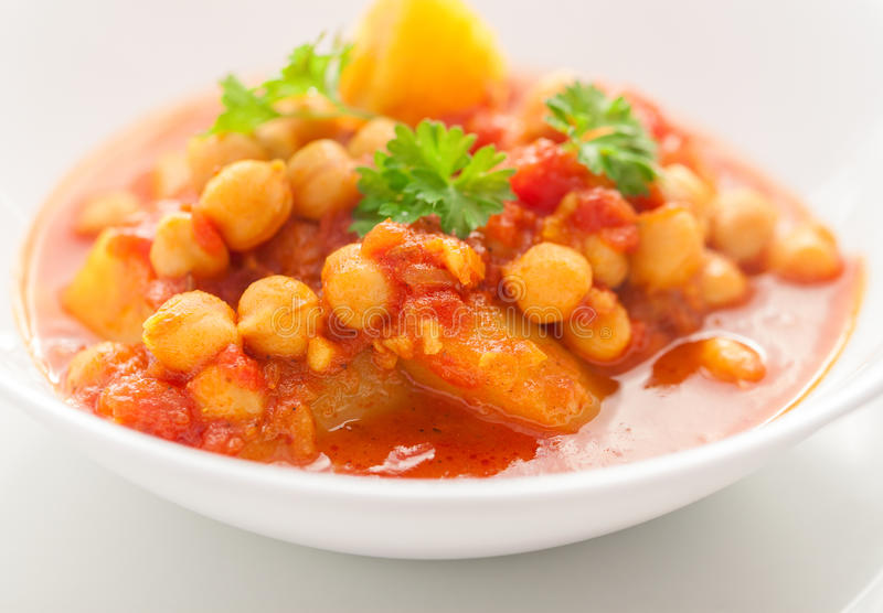 Download Chickpea Curry stock image. Image of menu, colours, diet - 38745709