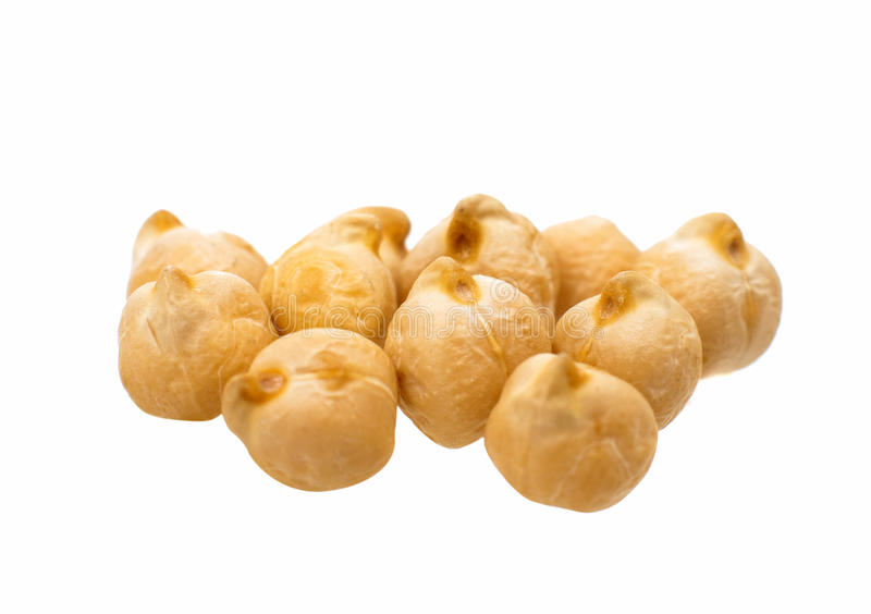 Chickpea isolated royalty free stock photography