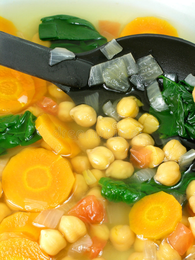 Chickpea soup 6 stock images