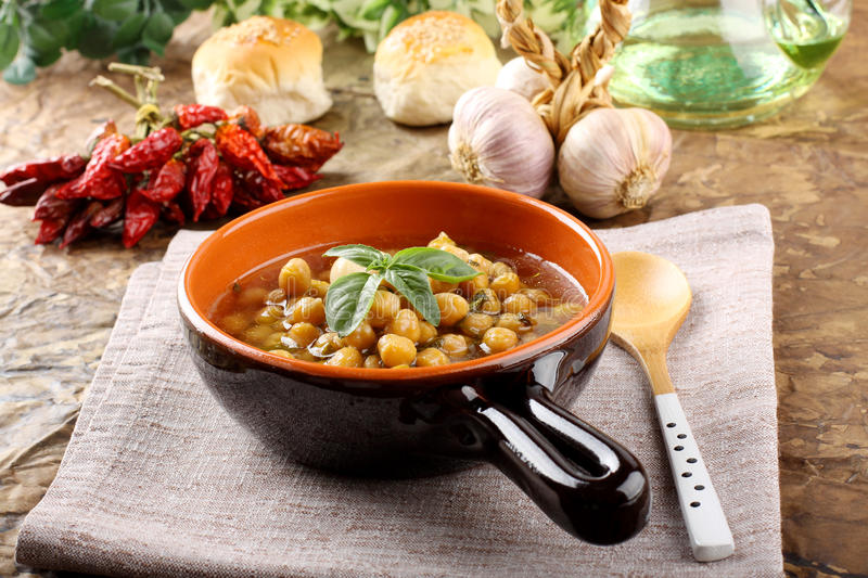 Download Chickpea Soup On Bowl Royalty Free Stock Photography - Image: 30044047