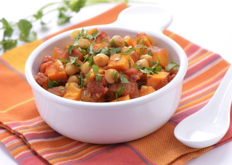 Chickpea Sweet Potato Curry Stock Photo