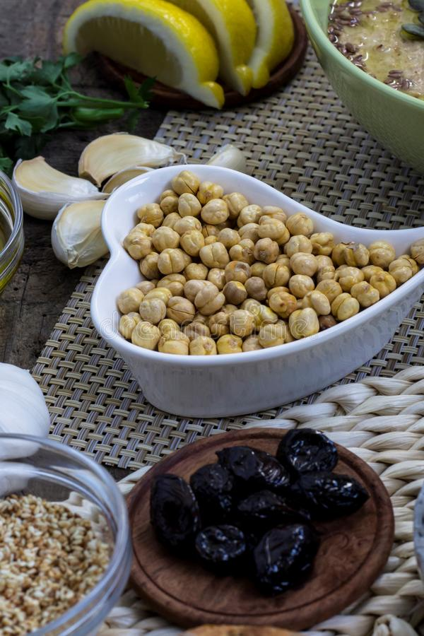Chickpeas. Healthy snack. Appetizer idea royalty free stock photography
