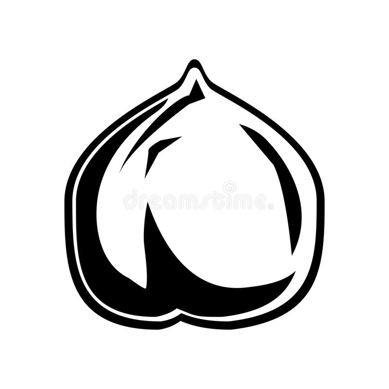 Chickpeas hummus ikona, wektorowa ilustracja ilustracja wektor