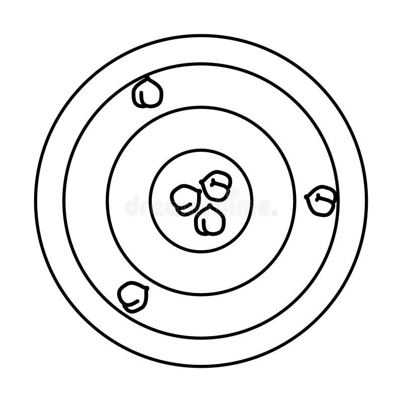 Chickpeas hummus ikona, wektorowa ilustracja ilustracji