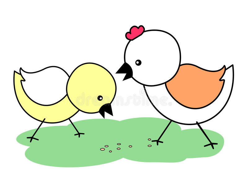 Chicks. Cute little chicks isolated on white background royalty free illustration