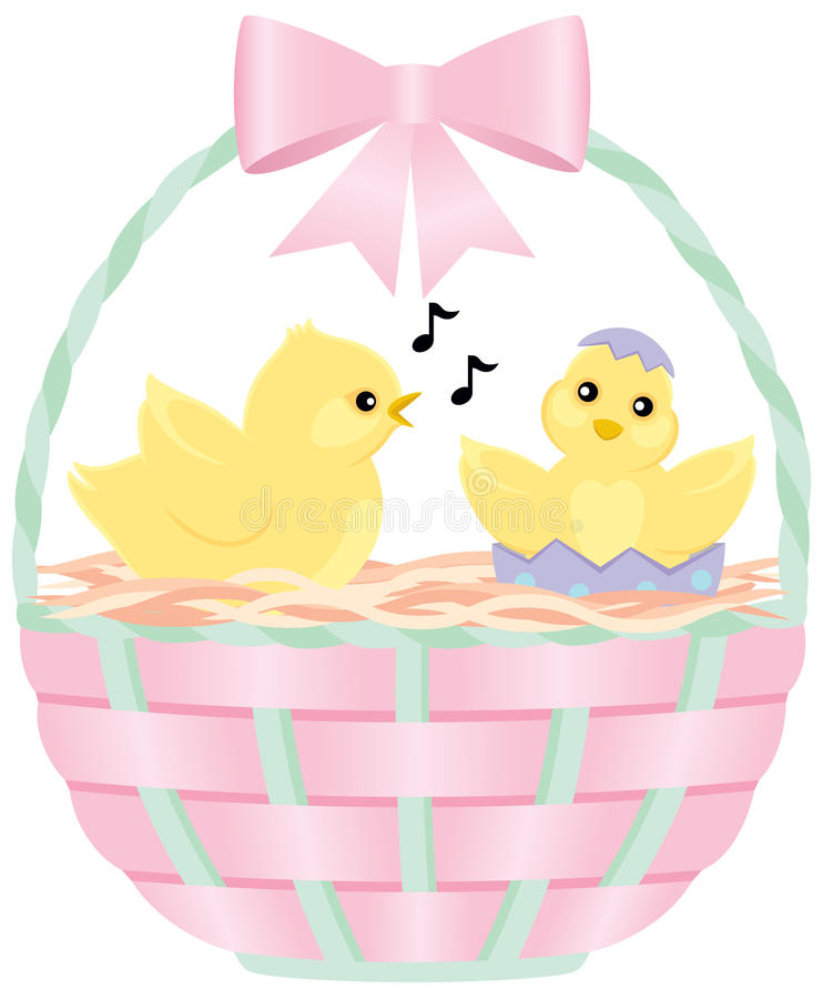 Chicks in an Easter Basket