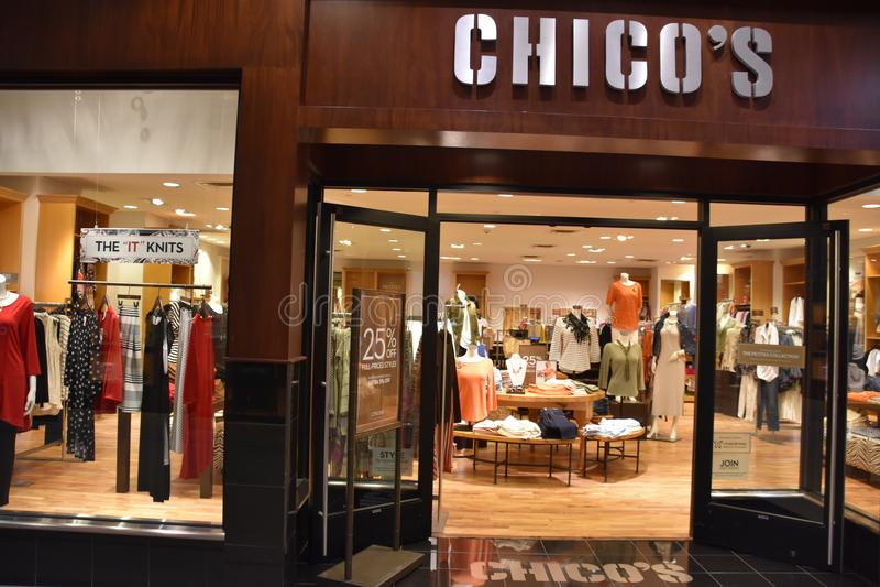 Chico ` s opslag in Galleria in Edina, Minnesota royalty-vrije stock foto