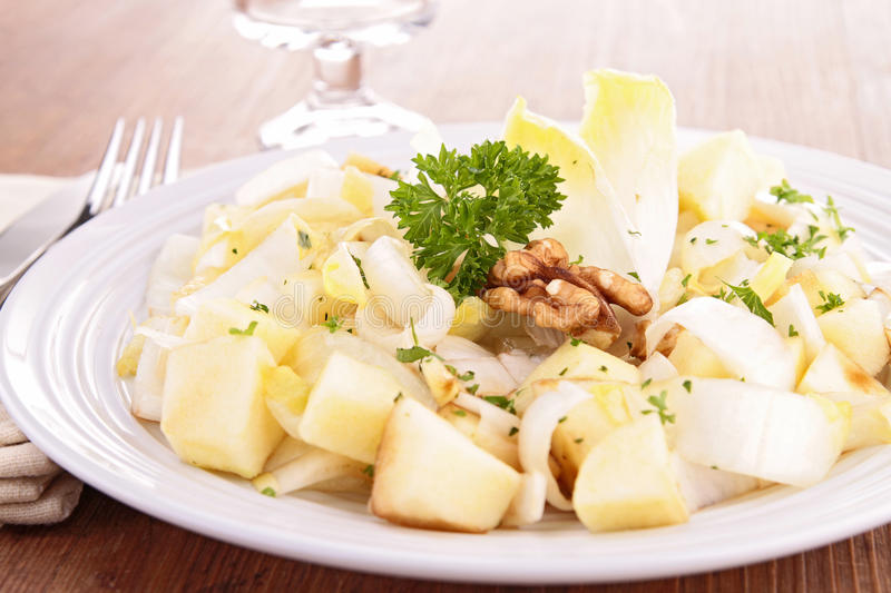 Chicory salad stock photo
